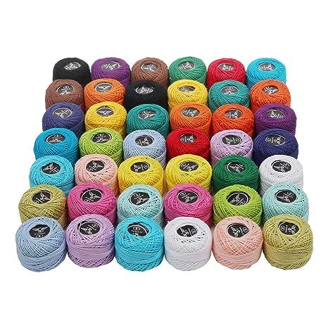 Kurtzy Cotone Uncinetto 42 Pezzi Cotone Per Uncinetto Colori