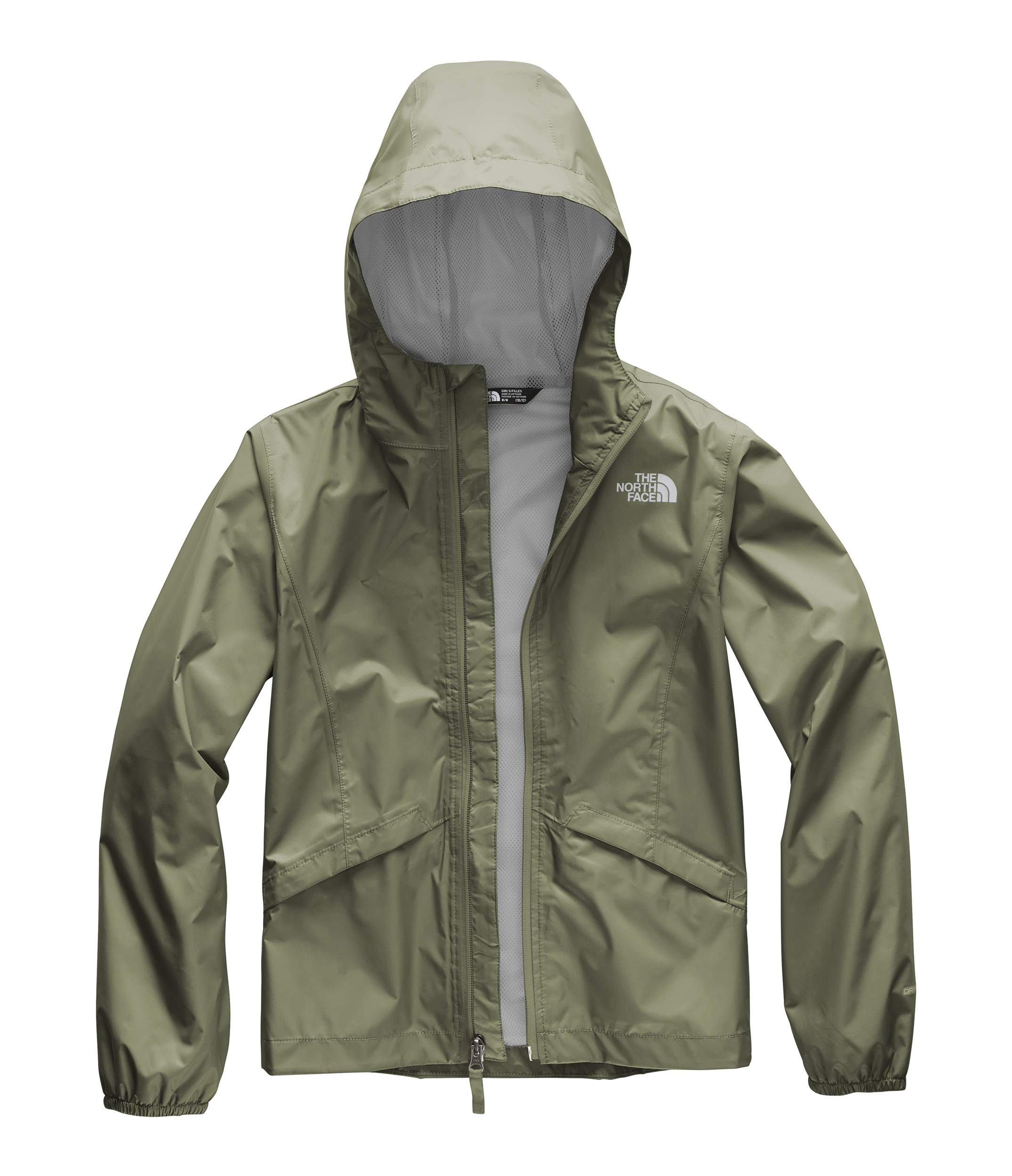 The North Face Girl's Zipline Rain Jacket, Four Leaf Clover, Size L by The North Face