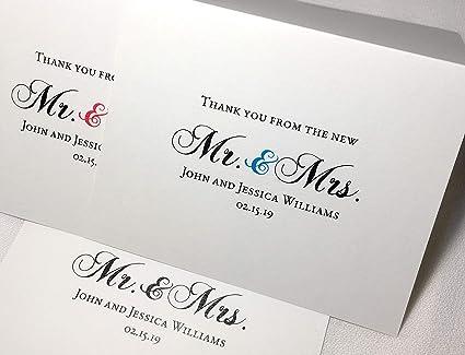 Tarjetas de agradecimiento personalizadas para boda con ...