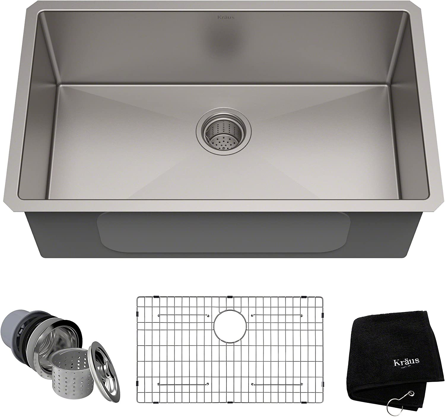 Bathroom Artistic Square Glass Vessel Sink S9052 combo with Oil Rubbed Bronze Faucet drain
