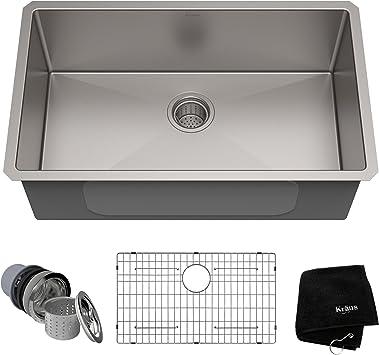 Kraus KHU100 30 Kitchen Sink, 30 Inch, Stainless Steel     Amazon.com
