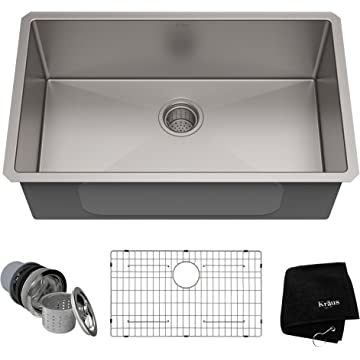 Best Gauge For Kitchen Sink Kraus khu100 30 30 inch 16 gauge undermount single bowl stainless kraus khu100 30 30 inch 16 gauge undermount single bowl stainless steel sink workwithnaturefo
