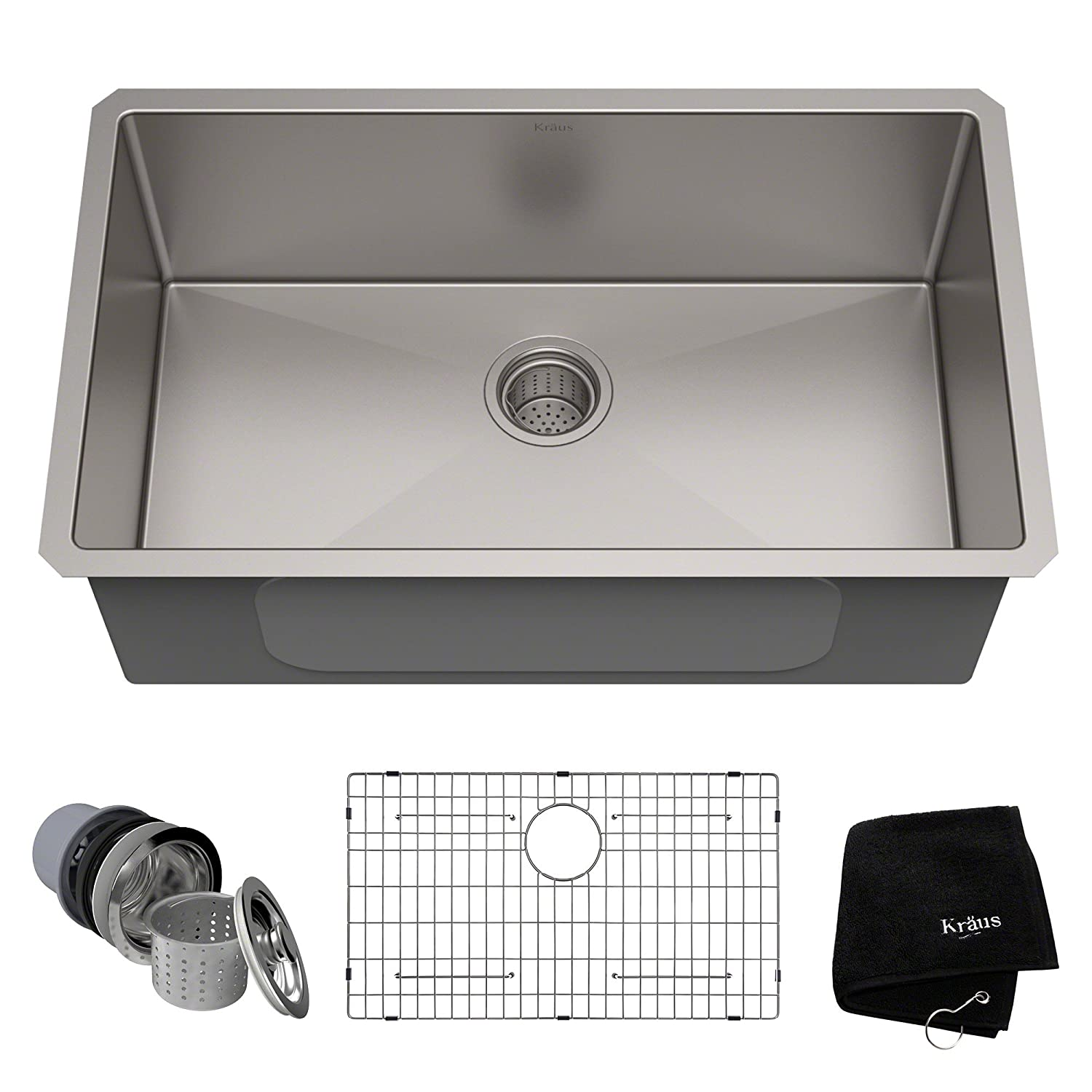 Kraus KHU100-30 Kitchen Sink, 30 Inch, Stainless Steel