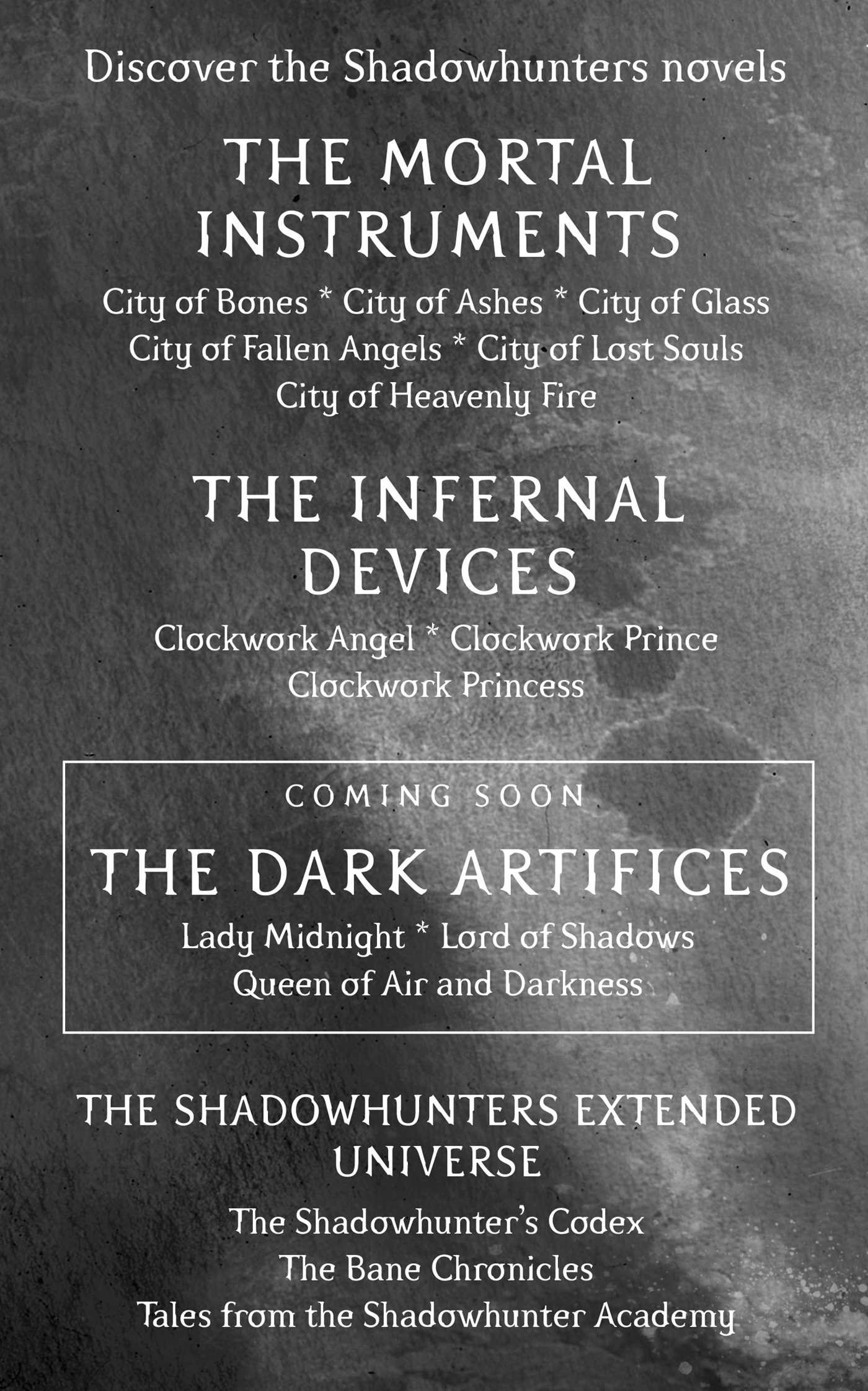 Amazon city of bones the mortal instruments 9781481455923 amazon city of bones the mortal instruments 9781481455923 cassandra clare books fandeluxe Gallery
