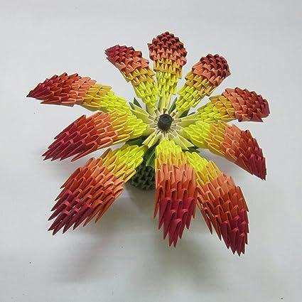 Aniviya handmade 3d origami flower amazon home kitchen aniviya handmade 3d origami flower mightylinksfo