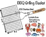 De Seveen BBQ Grilling Basket Set Includes Grill