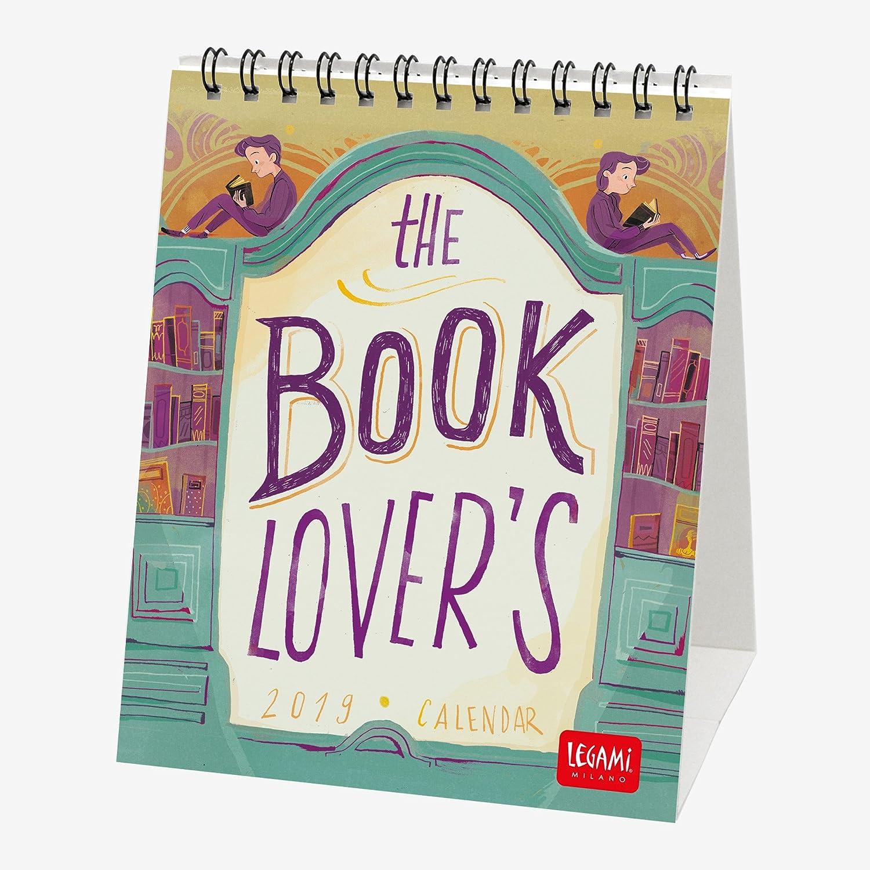 Legami Calendario Da Tavolo 2019, Dimensioni 12 X 14,5 Cm-Book Lover's