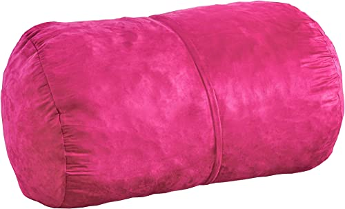 Christopher Knight Home Cassell Fuchsia Pink Fabric 4-foot Lounge Beanbag Chair