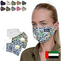 BEOLA Washable Face Mask Non Medical Reusable Cotton With Valve Filter Reusable Bella Adult Woman Man Fashion (Aurora 2…