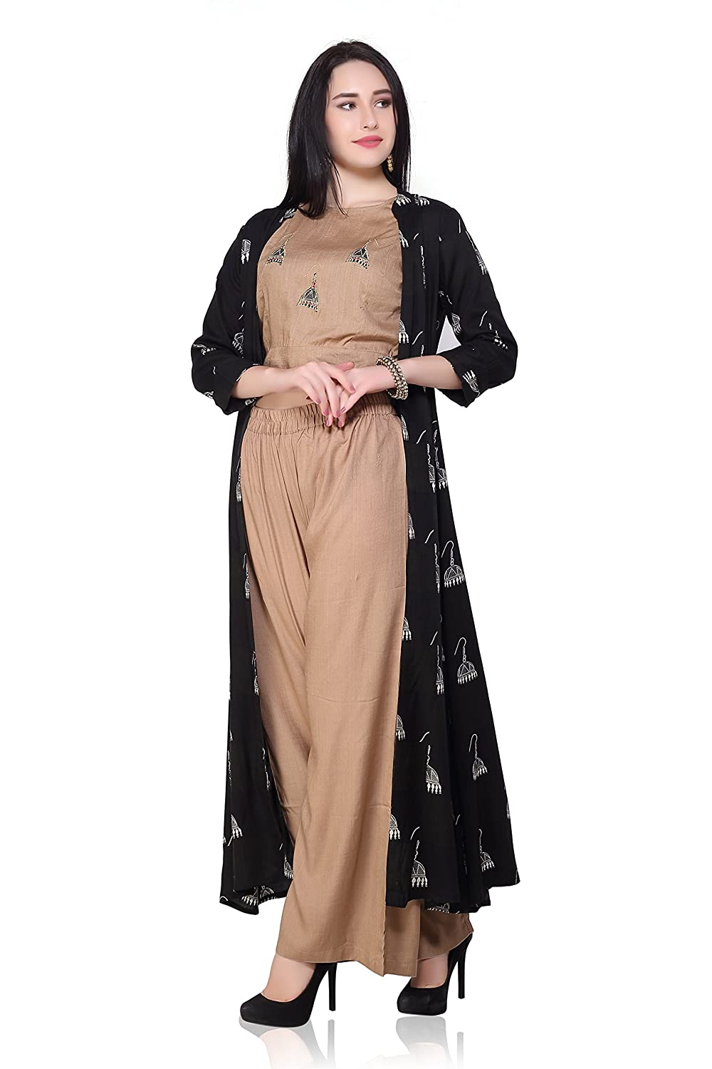 897f755df3c Long Skirt With Crop Top And Jacket Stylish Indo Western Dress ...