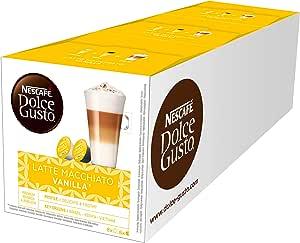 Nescafe Dolce Gusto Latte Macchiato Vanilla, 3 Pack (48 Capsules)