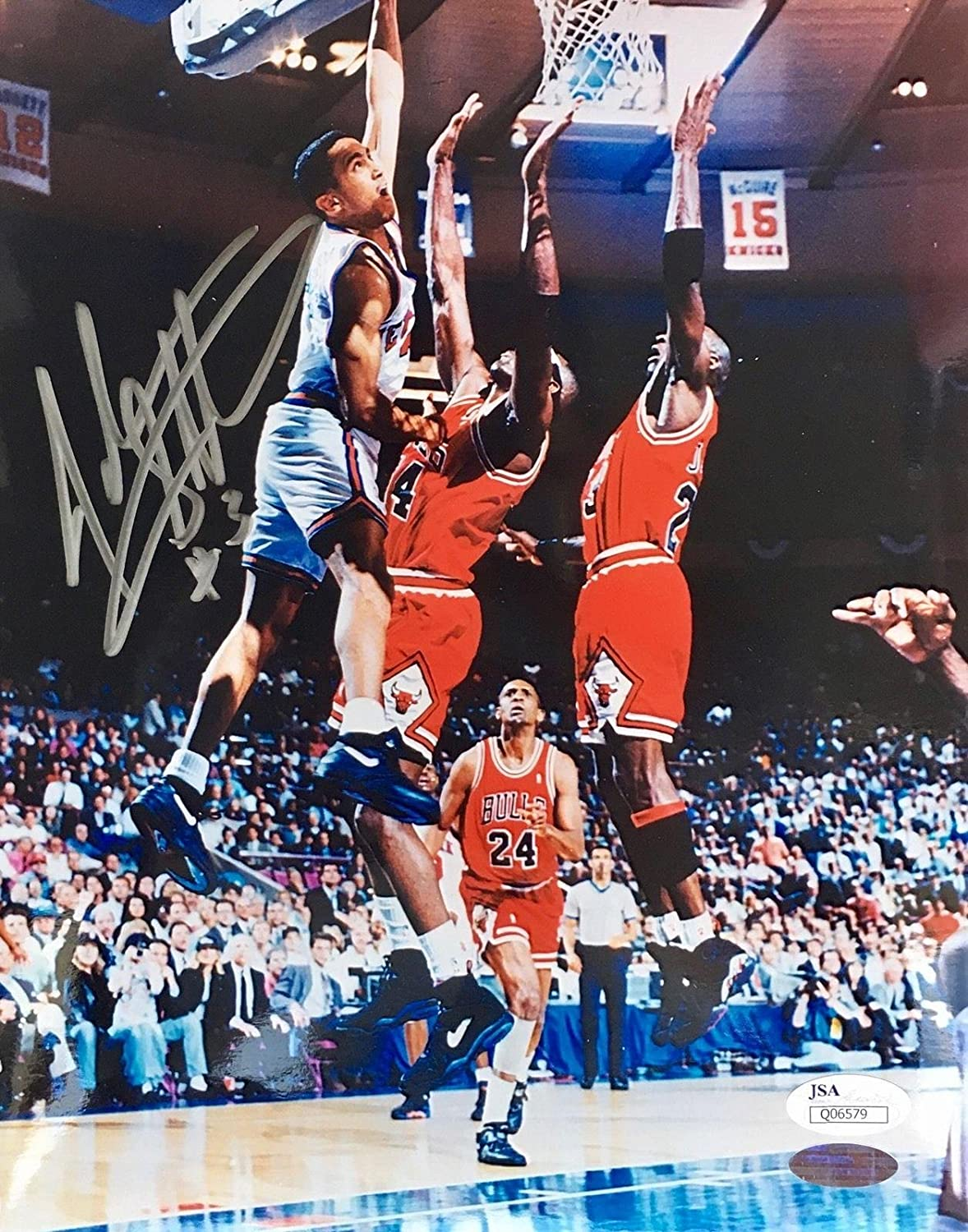 7cde445b Autographed John Starks Photo - The Dunk 8x10 - JSA Certified - Autographed  NBA Photos at Amazon's Sports Collectibles Store
