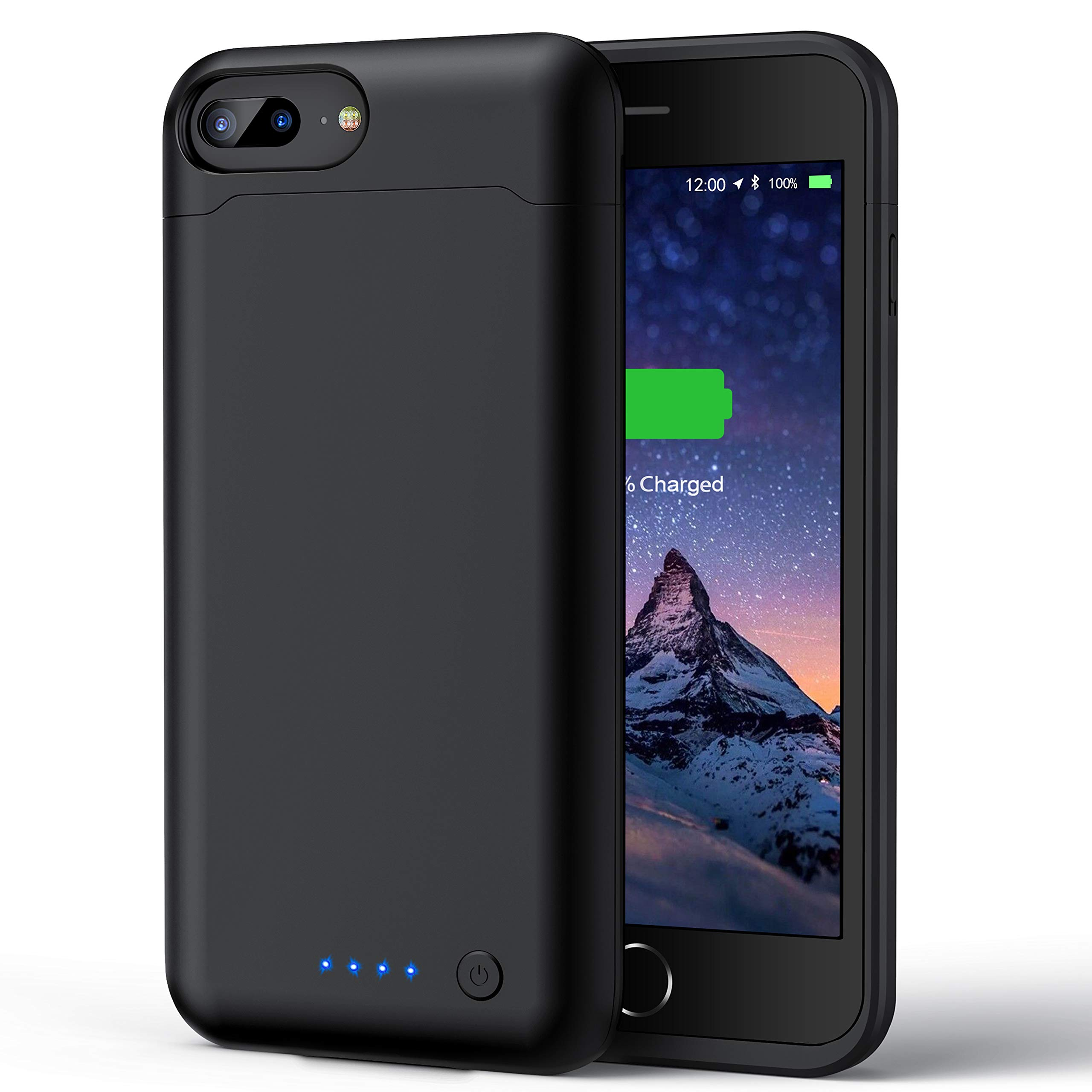 Battery Case for iPhone 7 Plus / 8 Plus, [ Upgraded ] 8500mAh Rechargeable Portable Charging Case for iPhone 8 Puls / 7 Plus (5.5inch) Extended Protective Charger Case Battery Pack -Black
