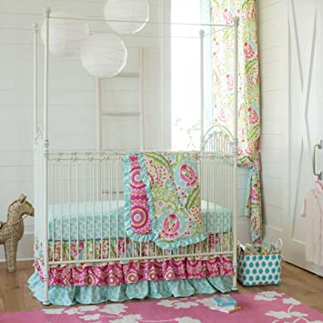 Carousel Designs Kumari Garden 3 Piece Crib Bedding Set