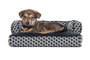 FurHaven Pet Dog Bed   Plush U0026 Décor Comfy Couch Pillow Sofa Style Couch Pet