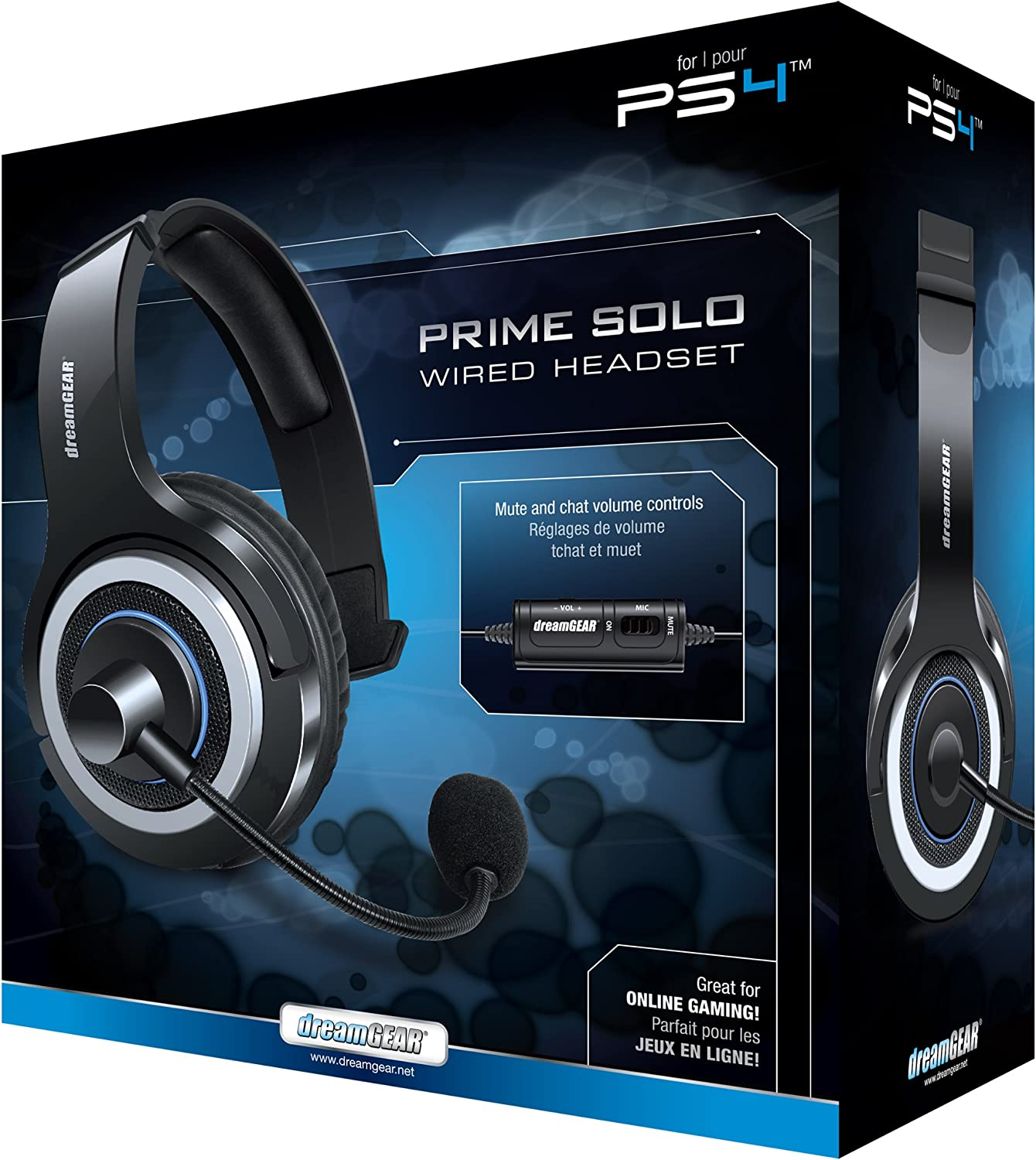 Amazon.com: dreamGEAR-PS4 Prime Solo Single Ear Wired Gaming Headset ...