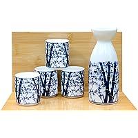 Bambú de Sake set en blanco - japonés