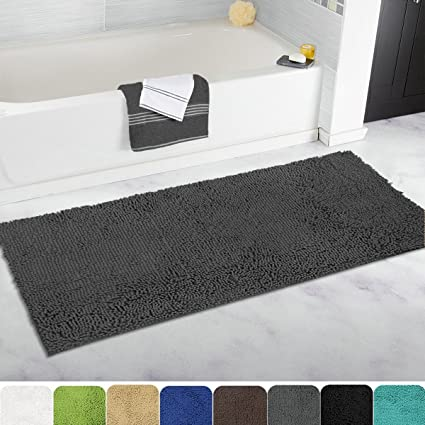 Amazoncom MAYSHINE Bath mat Runners for bathroom rugsLong floor