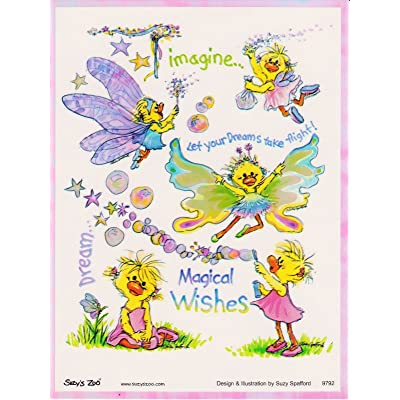 Suzy's Zoo Magical Wishes Suzy Ducken Iridescent Sticker 6 inches 4.5 inches: Toys & Games