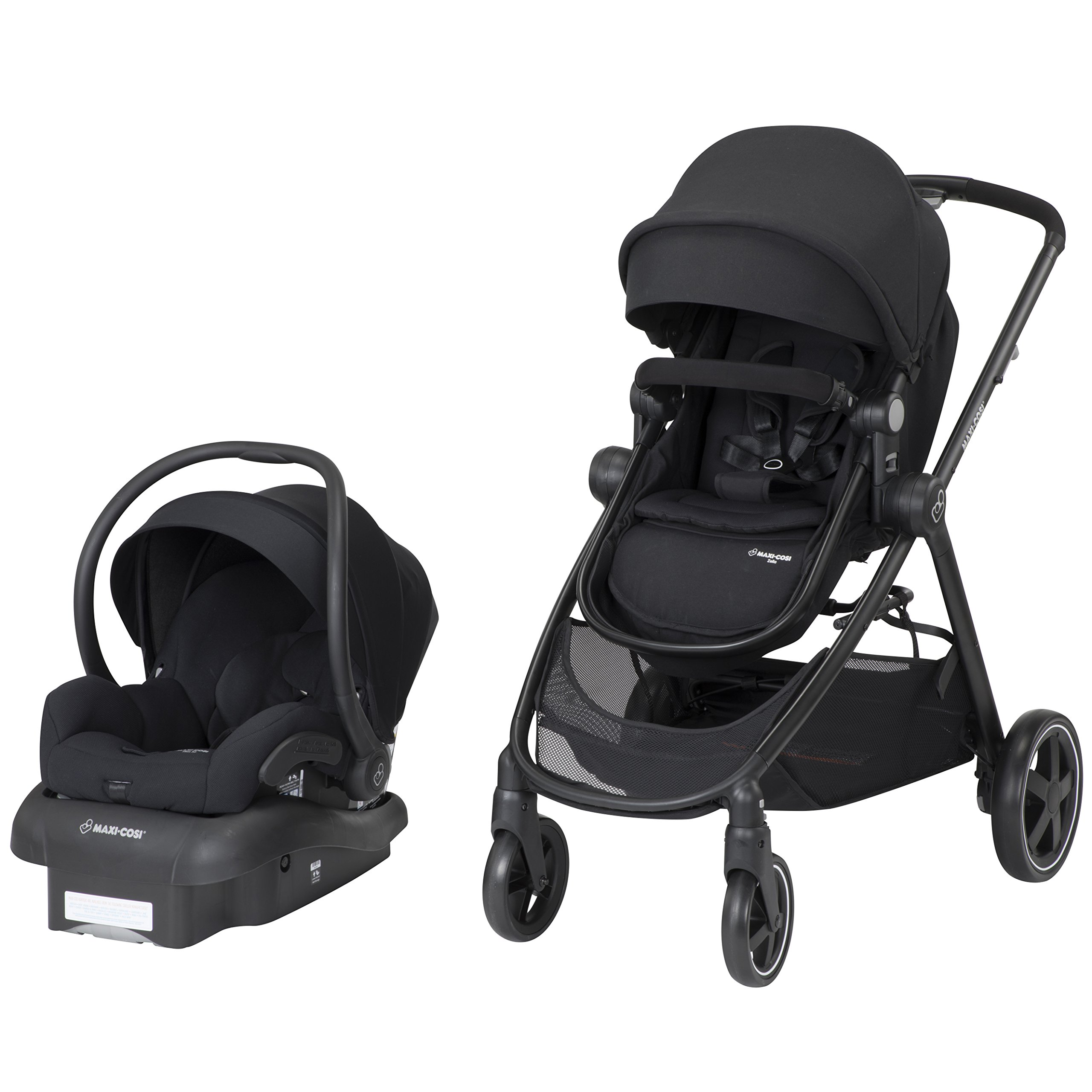 Maxi-Cosi Zelia 5-In-1 Modular Travel System, Night Black, One Size by Maxi-Cosi