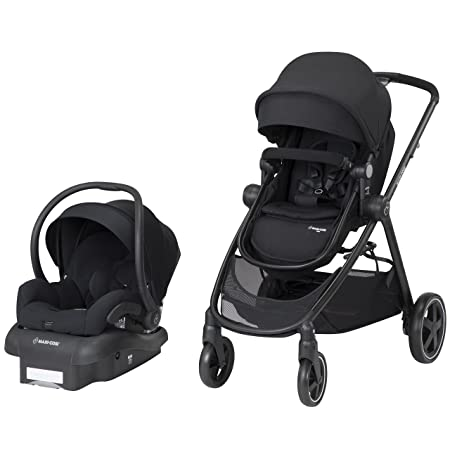 Maxi-Cosi Zelia 5-in-1 Modular Travel System Stroller and Mico 30 Infant Car Seat Set Night Black