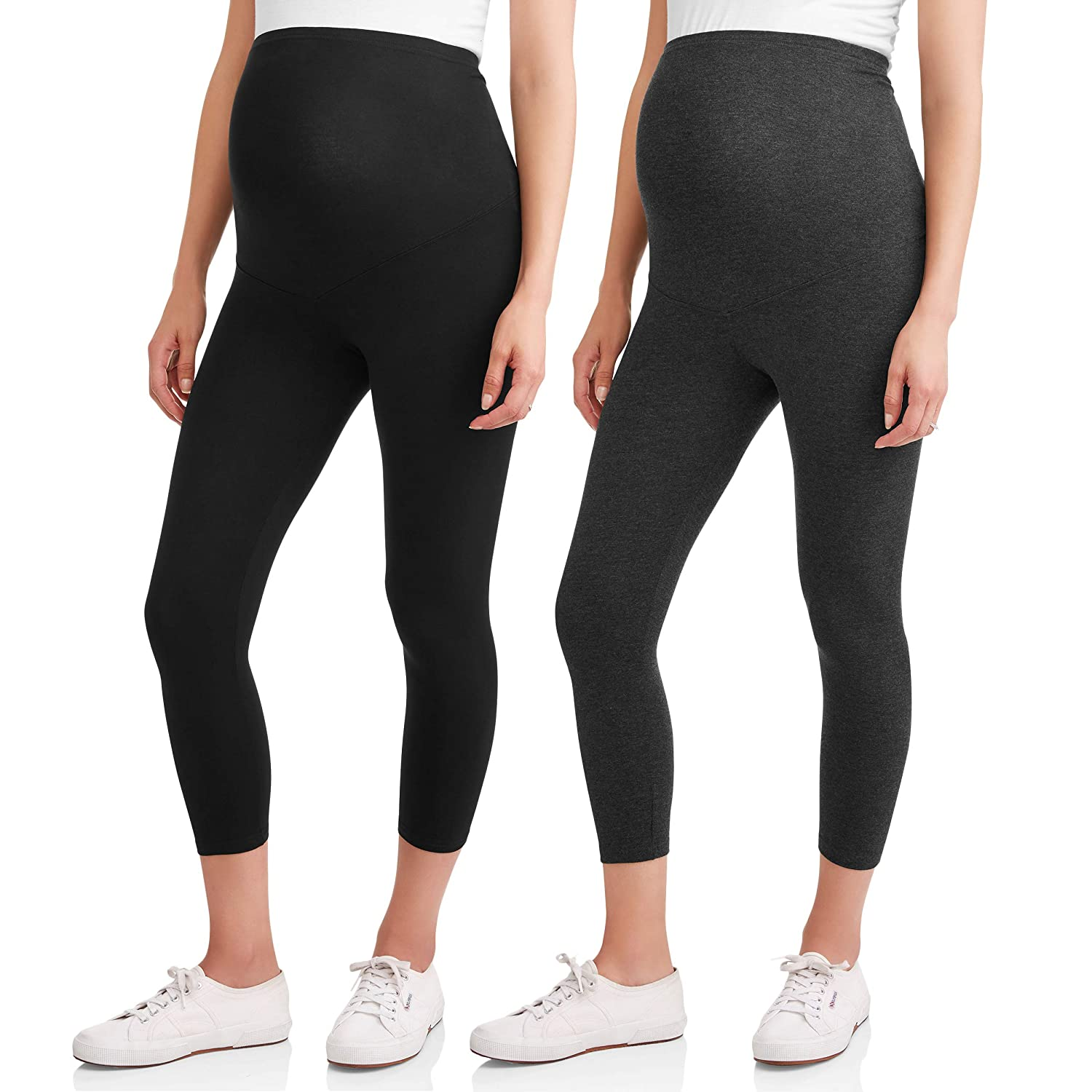 RUMOR HAS IT Maternity Over The Belly Capri Crop Support Leggings