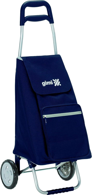 Gimi Argo - Carro de la compra, con 2 ruedas, bolsa impermeable de poliéster, capacidad de 45 litros, azul, 37 x 33 x 95,5 cm