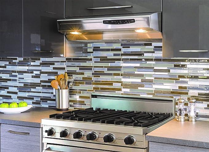 Smart tiles milano grigio dual finish d gel otm piastrelle adesive