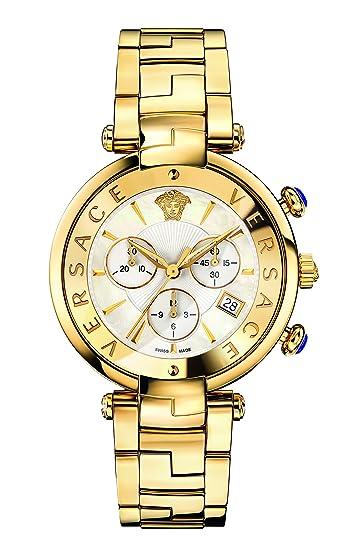 Versace VAJ060016 - Reloj de Pulsera Mujer, Acero Inoxidable, Color Oro: Amazon.es: Relojes