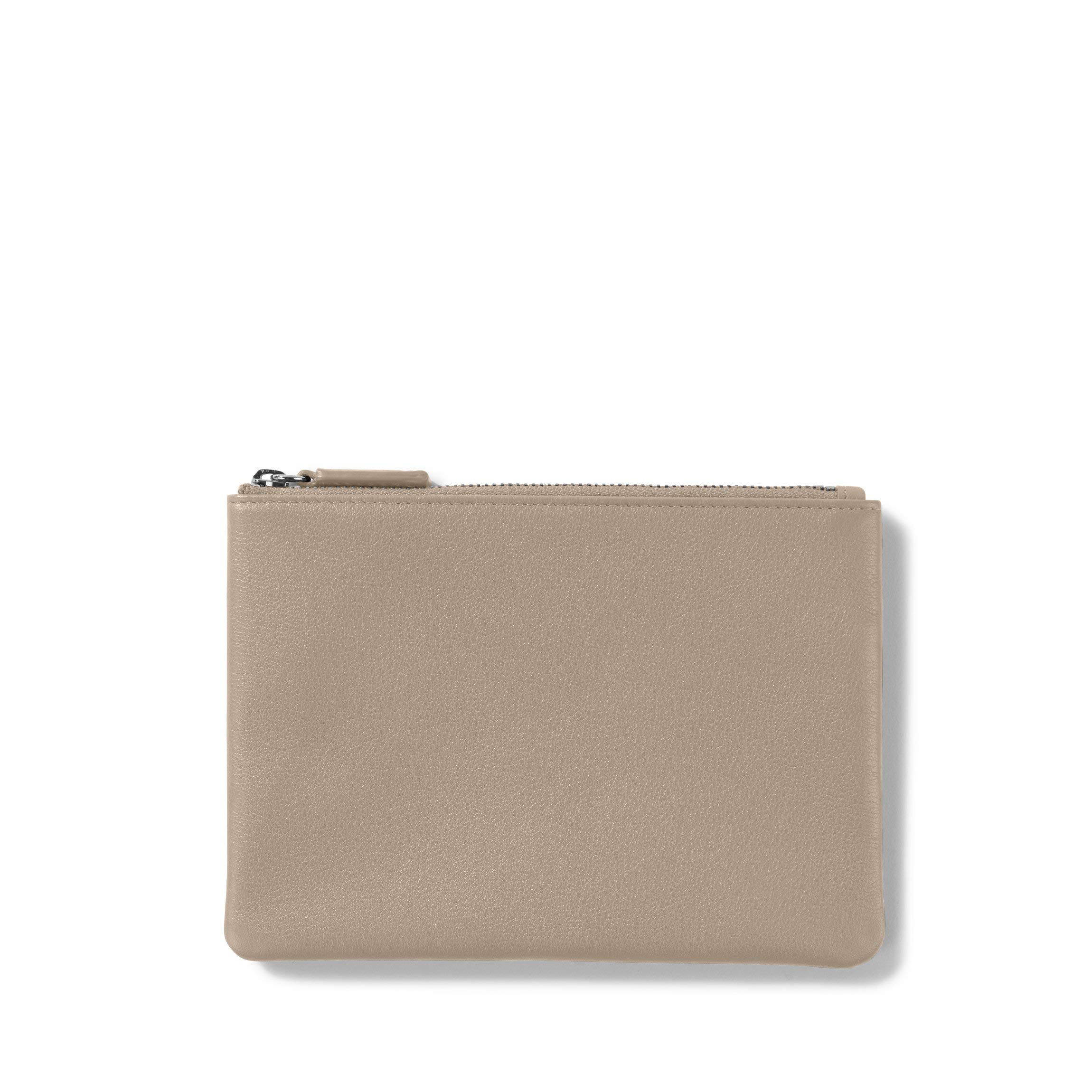 Small Pouch - Full Grain Leather Leather - Ginger (gray)