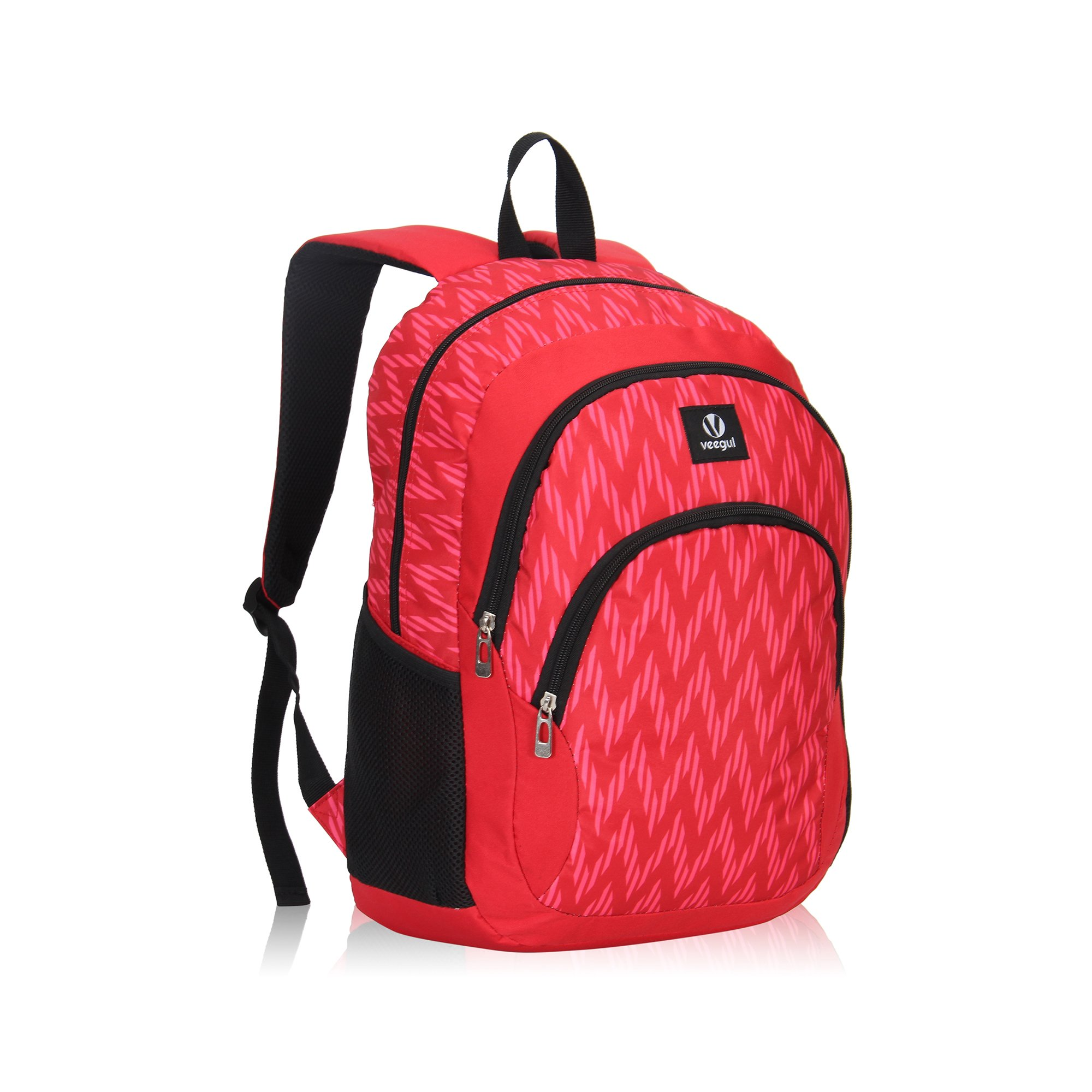 Veegul Cool Backpack Kids Sturdy Schoolbags Back to School Backpack for Boys Girls,Red