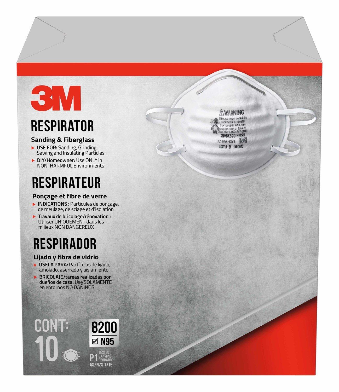 3M COMPANY 8200HB5-A 10PK SandFBG Respirator