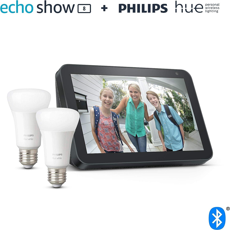 Echo Show 8 Anthrazit Stoff Philips Hue White Led Lampe Doppelpack E27 Kompatibel Mit Bluetooth Und Zigbee Kein Hub Erforderlich Alle Produkte