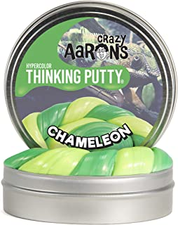 """product image for Crazy Aaron's Thinking Putty - Hypercolor: Chameleon - Fidget Toy For All Ages - Stretch, Change, Play and Create - Heat-Changing Green Color That Never Dries Out - 4"""" Large Storage Tin - 3.2 oz."""