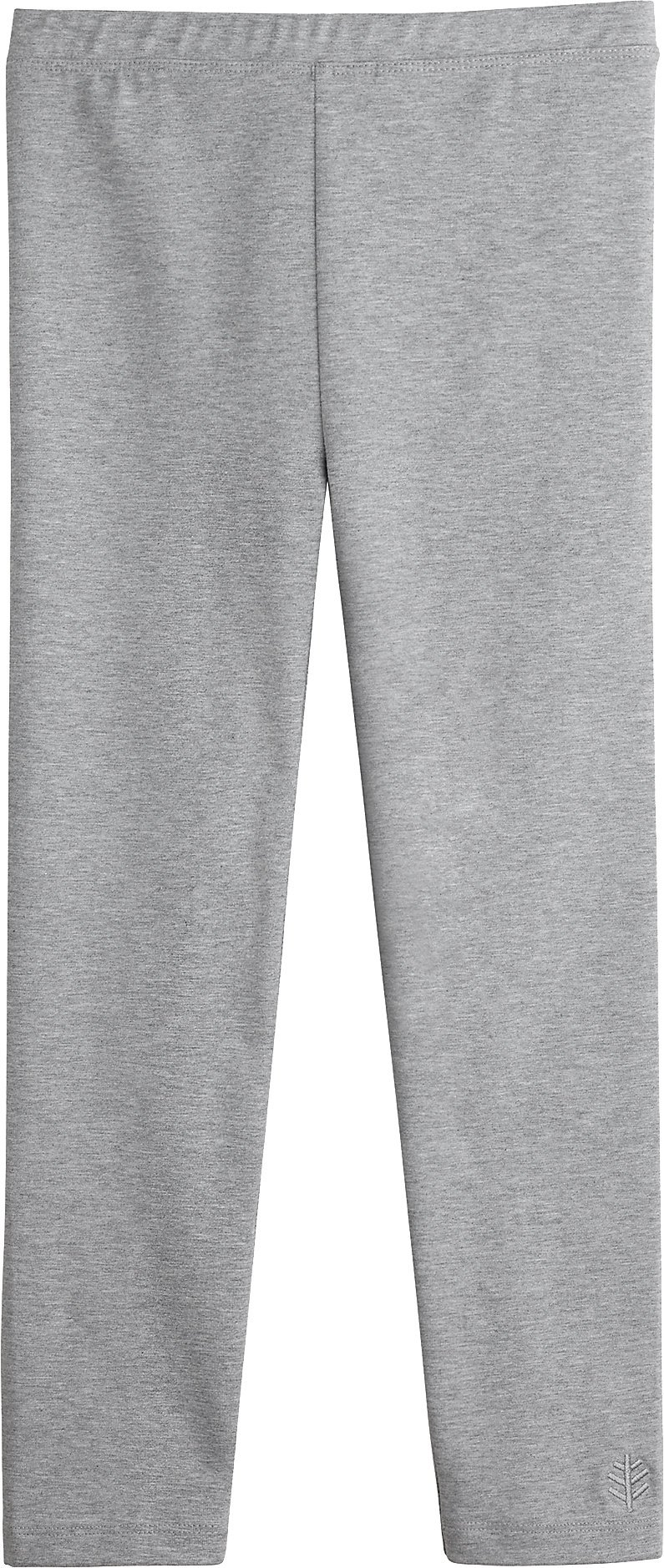 Coolibar UPF 50+ Girls' Summer Leggings - Sun Protective (Medium- Grey Heather)
