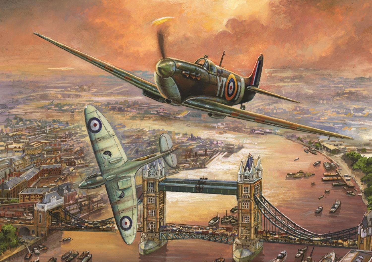 falcon games spitfire over london jigsaw puzzle 1000 piece