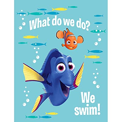 Jay Franco Disney Finding Dory Plush Throw Blanket: Home & Kitchen