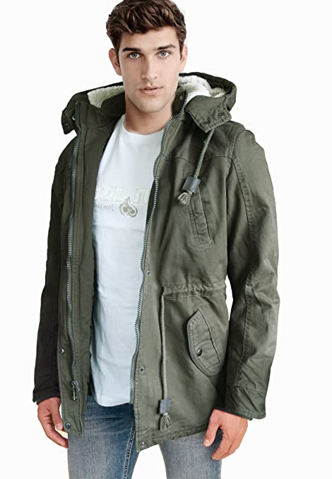 Fun Giaccone Parka Casual Militare Coolo Verde Invernale Uomo Giacca qqCTwUxA4