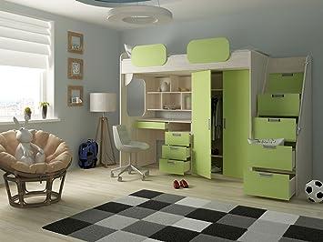 Etagenbett Geko : Hochbett geko farbe grün amazon küche haushalt