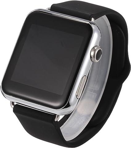 Bluetooth V1 Smart Watch Monitor de ritmo cardíaco Reloj Smartwatch Soporte Tarjeta SIM TF con cámara para IOS Smartphones Android: Amazon.es: Electrónica