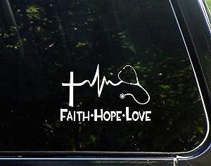 Diamond Graphics Faith Hope Love Stethescope (6