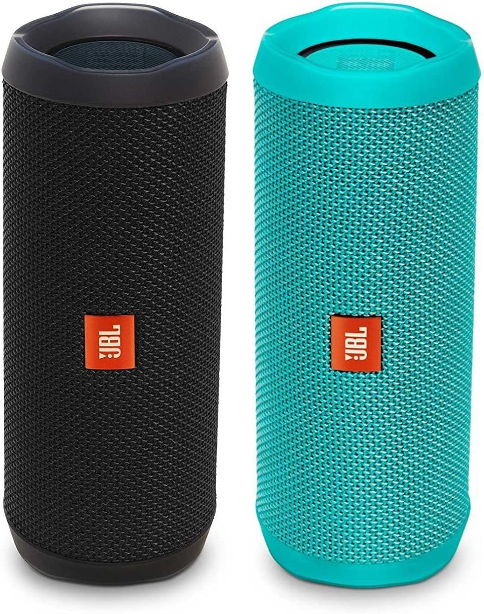JBL Flip 4 Waterproof Bluetooth Speaker Party Pack Black Teal