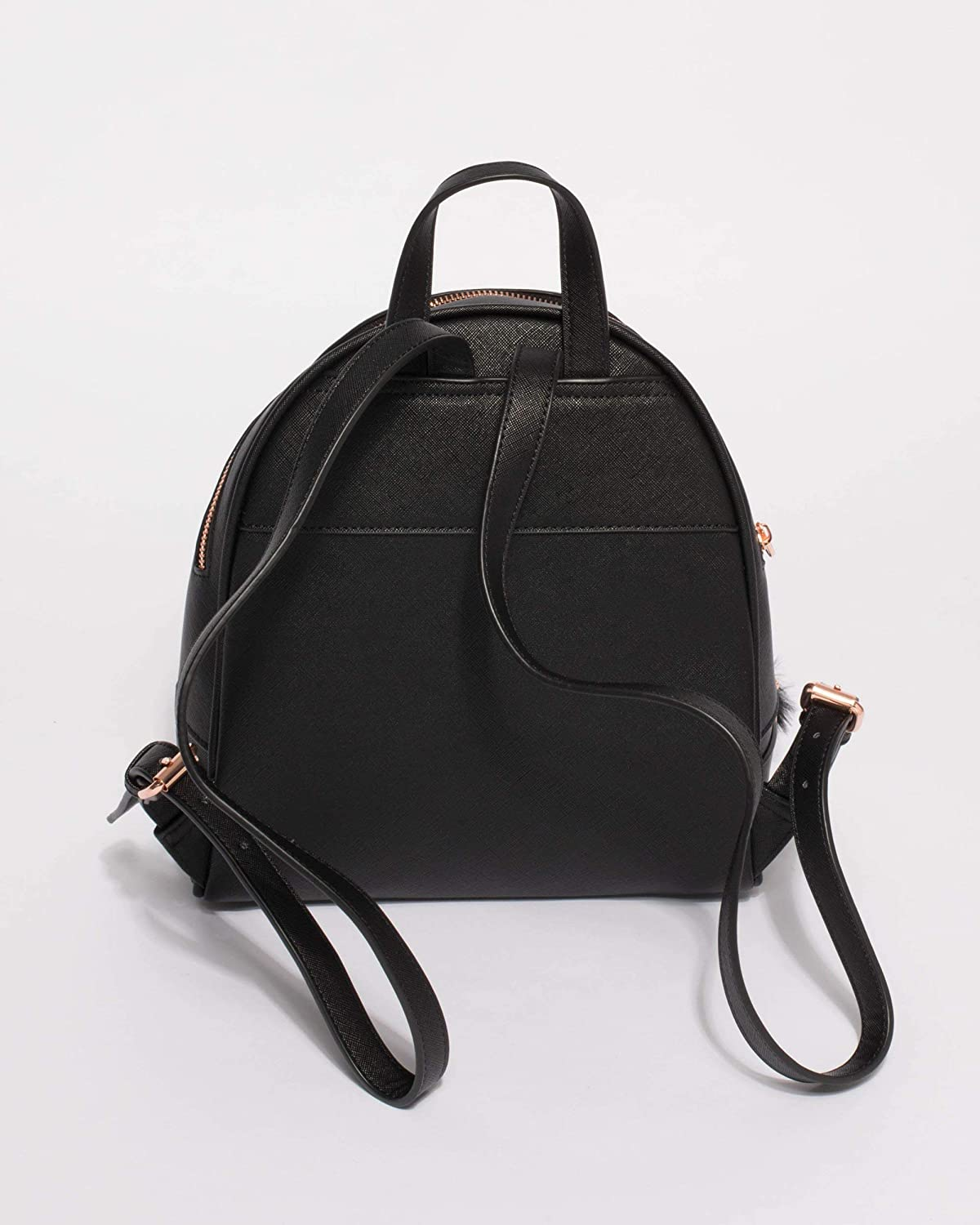 6eea28703b76 Colette Hayman - Bridget Black Medium Rose Gold Hardware Backpack   Amazon.com.au  Fashion