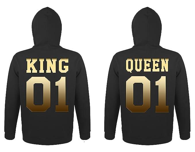 TRVPPY 2X Pareja Suéter Sudadera con Capucha/Modelo King & Queen/para Hombre & Mujer, en Muchos Colores Diferentes/Hooded Sweat Hoodie: Amazon.es: Ropa y ...