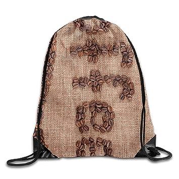 7937b16b8a82 Amazon.com  Coffee Beans Xmas Unisex Gym Drawstring Shoulder Bag ...
