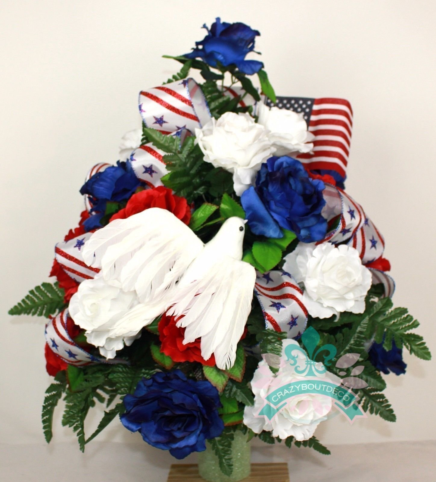XL-Patriotic-3-inch-Cemetery-Vase-Arrangement-in-Red-White-and-Blue-Roses