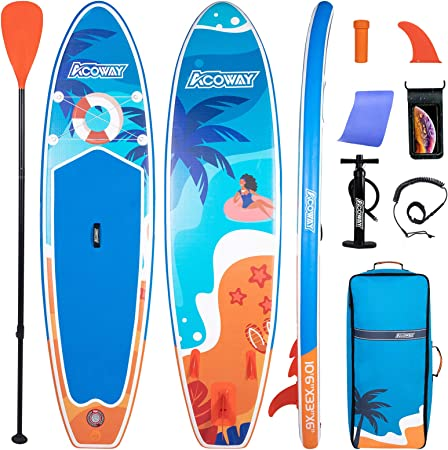 iSUP Package with All Accessories Inflatable SUP Board 10 6 x 32 x 6 Inflatable SUP Stand Up Paddle Board