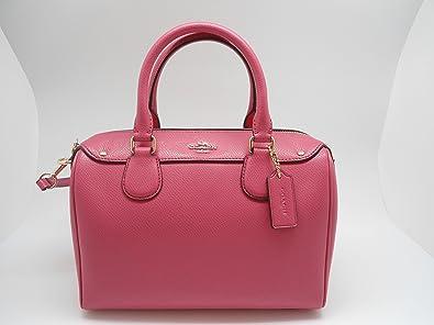 83075d3ee00 Coach Mini Bennett Satchel Dahlial Pink Crossbody Purse Handbag F36624