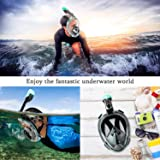 Newest Version Full Face Snorkel Mask Foldable