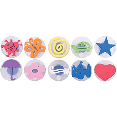 Ready 2 Learn Giant Stampers - Imaginative Play - Set 1 - Set of 10 - Easy to Hold Foam Stamps for Kids - Arts and Crafts Stamps for Displays, Posters, Signs and DIY Projects: Industrial & Scientific